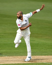 Jeetan Patel wheels away, Warwickshire v Kent, County Championship, Division One, Edgbaston, 2nd day, April 12, 2019