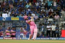 Jos Buttler smashes over the infield, Mumbai Indians v Rajasthan Royals, IPL 2019, Mumbai, April 13, 2019