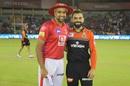 R Ashwin and Virat Kohli at the toss, Kings XI Punjab v Royal Challengers Bangalore, IPL 2019, Mohali, April 13, 2019