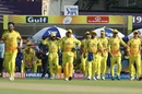 MS Dhoni leads Chennai Super Kings onto the field, Kolkata Knight Riders v Chennai Super Kings, IPL 2019, Kolkata, April 14, 2019