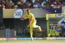 Mitchell Santner tosses one up, Kolkata Knight Riders v Chennai Super Kings, IPL 2019, Kolkata, April 14, 2019