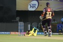 Faf du Plessis completes a stunning catch, Kolkata Knight Riders v Chennai Super Kings, IPL 2019, Kolkata, April 14, 2019