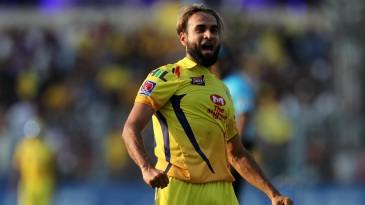 Imran Tahir roars after taking a wicket
