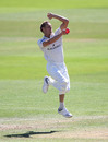 Worcestershire bowler Charlie Morris in action during a County Championship match against Nottingham at Trent Bridge, June 27, 2018