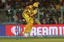 Suresh Raina goes airborne, Kolkata Knight Riders v Chennai Super Kings, IPL 2019, Kolkata, April 14, 2019