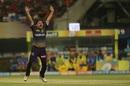 Piyush Chawla appeals for a wicket, Kolkata Knight Riders v Chennai Super Kings, IPL 2019, Kolkata, April 14, 2019