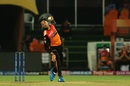 Abhishek Sharma in his delivery stride, Sunrisers Hyderabad v Delhi Capitals, IPL 2019, Hyderabad, April 14, 2019