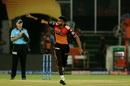 Khaleel Ahmed celebrates after a wicket, Sunrisers Hyderabad v Delhi Capitals, IPL 2019, Hyderabad, April 14, 2019