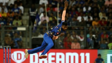 Hardik Pandya completes his bowling action