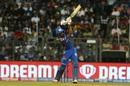 Hardik Pandya goes down the ground, Mumbai Indians v Royal Challengers Bangalore, IPL 2019, Mumbai, April 15, 2019