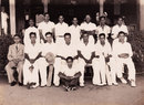 The Ceylon squad to play against a South India XI: Derrick de Saram (sitting, third from left), captain BR Heyn (fourth) and Mahadevan Sathasivam (sixth), 1948