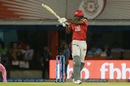Chris Gayle muscles a short delivery away, Kings XI Punjab v Rajasthan Royals, IPL 2019, Mohali, April 16, 2019