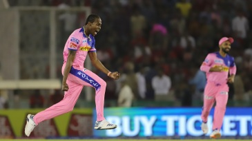 Jofra Archer was Royals' outstanding bowler on the night