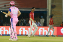 Arshdeep Singh exults after dismissing Jos Buttler, Kings XI Punjab v Rajasthan Royals, IPL 2019, Mohali, April 16, 2019