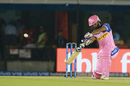 Rahul Tripathi lofts one over the covers, Kings XI Punjab v Rajasthan Royals, IPL 2019, Mohali, April 16, 2019