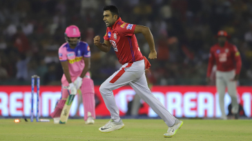 R Ashwin is jubilant after getting Sanju Samson bowled