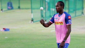 Jofra Archer in the nets at Jaipur