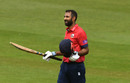 Varun Chopra acknowledges his hundred, Glamorgan v Essex, Royal London Cup, South Group, Cardiff, April 17, 2019