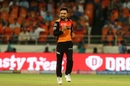 Rashid Khan is pleased after getting a wicket, Sunrisers Hyderabad v Chennai Super Kings, IPL 2019, Hyderabad, April 17, 2019