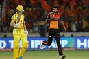 Khaleel Ahmed sends back Sam Billings, Sunrisers Hyderabad v Chennai Super Kings, IPL 2019, Hyderabad, April 17, 2019