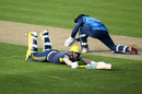Sam Northeast dives to make his ground, Kent v Hampshire, Royal London Cup, South Group, Canterbury, April 17, 2019