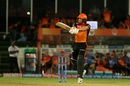 Jonny Bairstow slashes through the off side, Sunrisers Hyderabad v Chennai Super Kings, IPL 2019, Hyderabad, April 17, 2019