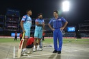 Prithvi Shaw, Rishabh Pant and Sachin Tendulkar share a light moment, Delhi Capitals v Mumbai Indians, IPL 2019, Delhi, April 18, 2019