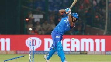 Rishabh Pant loses his off stump