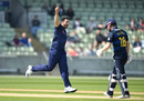 Tim Bresnan celebrates a breakthrough, Warwickshire v Yorkshire, Royal London Cup, North Group, Edgbaston, April 19, 2019