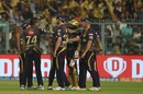 Sunil Narine celebrates the wicket of Parthiv Patel, Kolkata Knight Riders v Royal Challengers Bangalore, IPL 2019, Kolkata, April 19, 2019