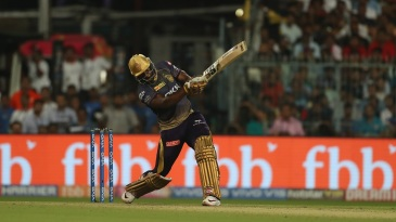 Andre Russell smashes one down the ground