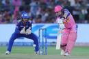 Steven Smith plays along the ground, Rajasthan Royals v Mumbai Indians, IPL 2019, Jaipur, April 20, 2019