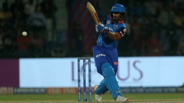 Shikhar Dhawan pulls the ball