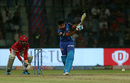Shreyas Iyer drills down the ground, Delhi Capitals v Kings XI Punjab, IPL 2019, Delhi, April 20, 2019