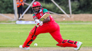 Mohammad Nadeem makes good use of the sweep, Oman v USA, WCL Division Two, Windhoek, April 20, 2019