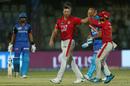 Shikhar Dhawan raises his bat on reaching a half-century, Delhi Capitals v Kings XI Punjab, IPL 2019, Delhi, April 20, 2019