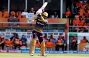 Sunil Narine loses his stumps to a slower ball, Sunrisers Hyderabad v Kolkata Knight Riders, IPL 2019, Hyderabad, April 21, 2019