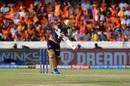Rinku Singh shapes to pull, Sunrisers Hyderabad v Kolkata Knight Riders, IPL 2019, Hyderabad, April 21, 2019