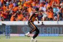Khaleel Ahmed celebrates a wicket, Sunrisers Hyderabad v Kolkata Knight Riders, IPL 2019, Hyderabad, April 21, 2019