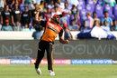 Vijay Shankar shapes to throw the ball, Sunrisers Hyderabad v Kolkata Knight Riders, IPL 2019, Hyderabad, April 21, 2019