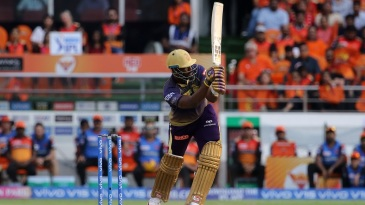 Andre Russell flicks for six