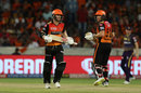 Jonny Bairstow and David Warner run between the wickets, Sunrisers Hyderabad v Kolkata Knight Riders, IPL 2019, Hyderabad, April 21, 2019