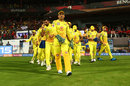 MS Dhoni leads his team out, Royal Challengers Bangalore v Chennai Super Kings, IPL 2019, April 21, 2019
