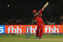 AB de Villiers hits one over the covers, Royal Challengers Bangalore v Chennai Super Kings, IPL 2019, Bengaluru, April 21, 2019