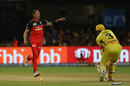 Dale Steyn's inch-perfect yorker at 144 kph was too good for Suresh Raina, Royal Challengers Bangalore v Chennai Super Kings, IPL 2019, Bengaluru, April 21, 2019