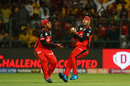 AB de Villiers and Akshdeep Nath avert a collision as the former takes a catch, Royal Challengers Bangalore v Chennai Super Kings, IPL 2019, Bengaluru, April 21, 2019