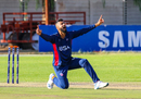 Ali Khan is elated after winning an lbw appeal, Namibia v USA, WCL Division Three, Windhoek, April 21, 2019