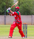 Zeeshan Maqsood launches a straight drive for six, Canada v Oman, WCL Division Two, Windhoek, April 21, 2019