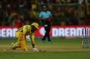 Shardul Thakur is run out, Royal Challengers Bangalore v Chennai Super Kings, IPL 2019, Bengaluru, April 21, 2019