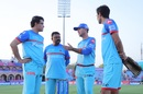 The Delhi Capitals' brains trust of Sourav Ganguly, Pravin Amre, Ricky Ponting and Mohammad Kaif, Rajasthan Royals v Delhi Capitals, IPL 2019, Jaipur, April 22, 2019
